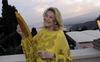 Marta Marzotto durante il party al sessantesimo Taormina Film Festival, 15 giugno 2014