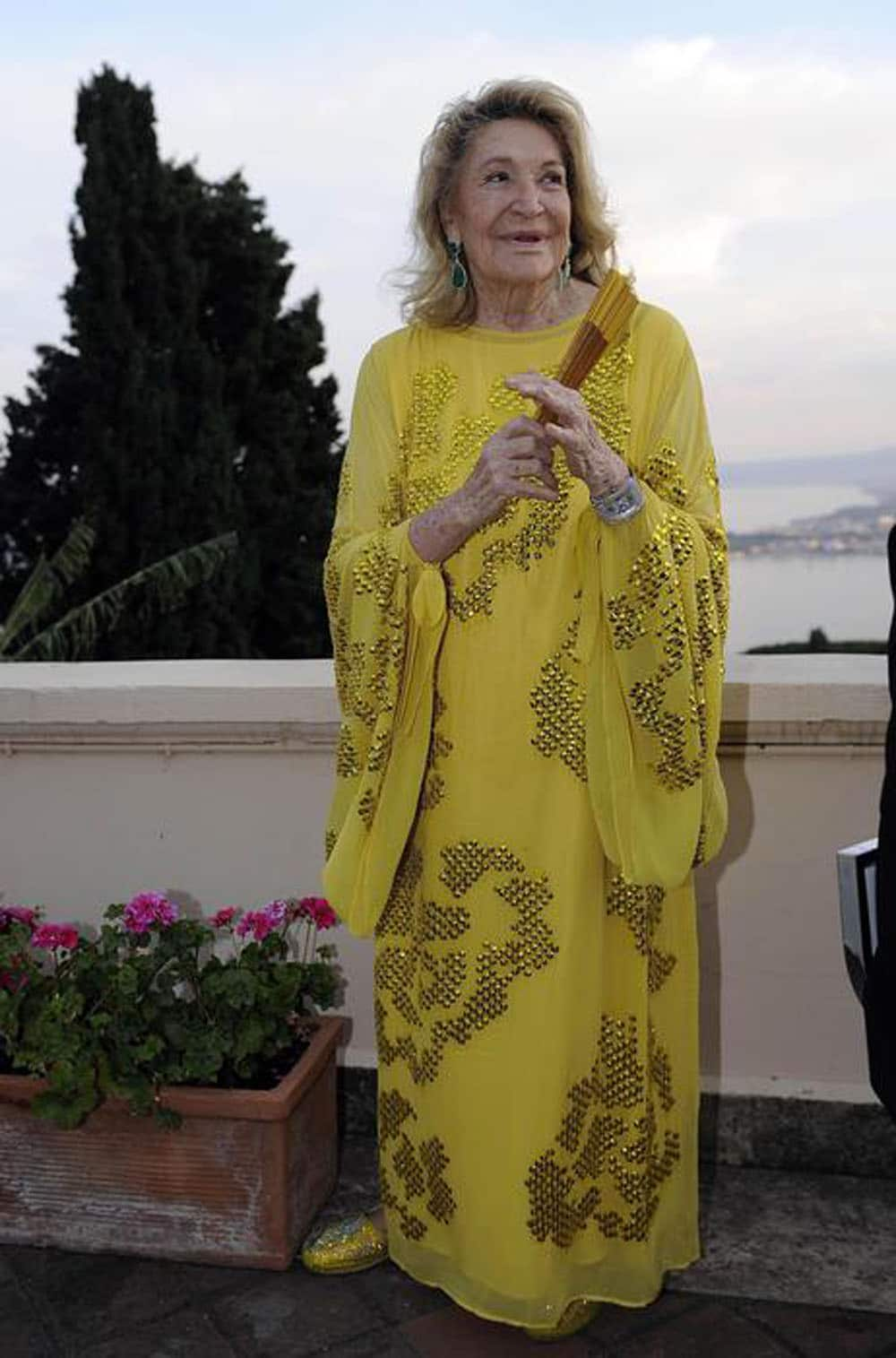 Italian manager Marta Marzotto at a party during the 60thTaormina Film Festival, in Taormina, Sicily Island, Italy, 15 June 2014. The festival runs from 14 to 21 June. ANSA/CLAUDIO ONORATI
