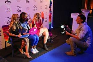 Party Night KIABI, 15 settembre 2016; Iolanda Corio con Eni Abeni e Iolanda Corio