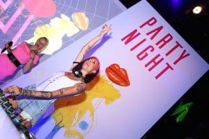 Party Night KIABI, 15 settembre 2016;Ema Stokholma con Ania J