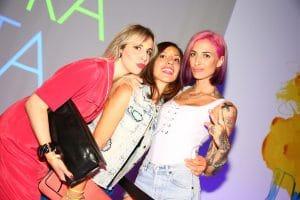 Party Night KIABI, 15 settembre 2016; Ema Stokholma con Iolanda Corio e Rossella Romano;