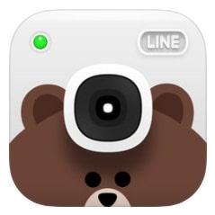 LINE Camera selfie app.