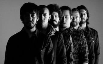 La formazione completa dei Linkin Park.