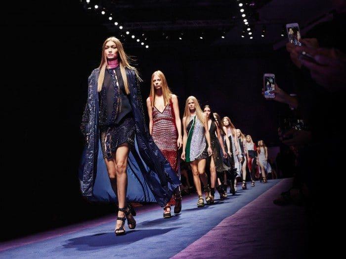 Sfilata Versace tenutasi a Milano il 23 Sep 2016