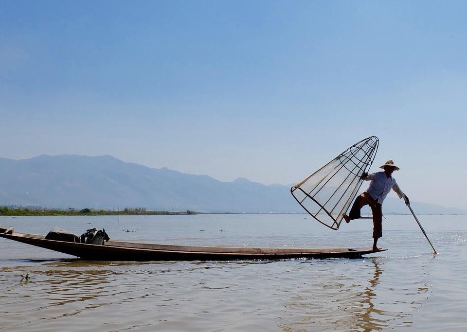 Lago Inle in Myanmar.