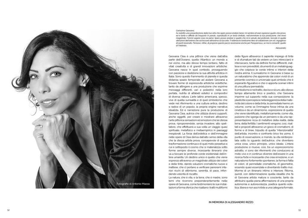 Geovana Clea, articolo su GAreview di Marzo 2018