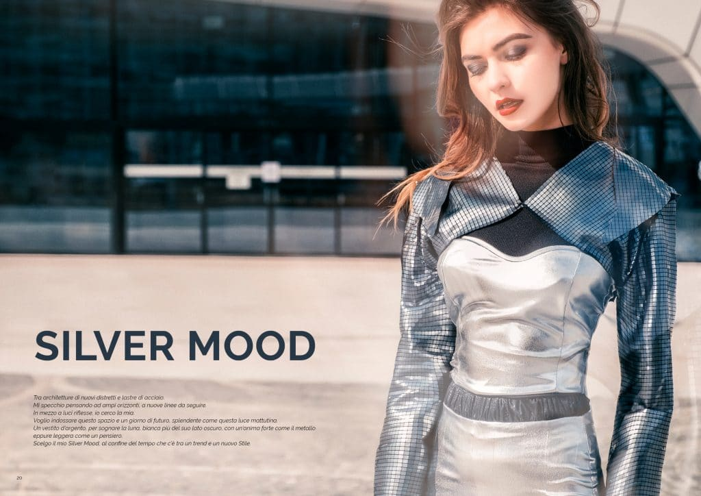 Editoriale Silver Mood, con Anastasia Stefanco, Flavio Torre, Alessio Gilardi e Silvia de Saraca; GAreview; Magazine fotografico di glamouraffair.com