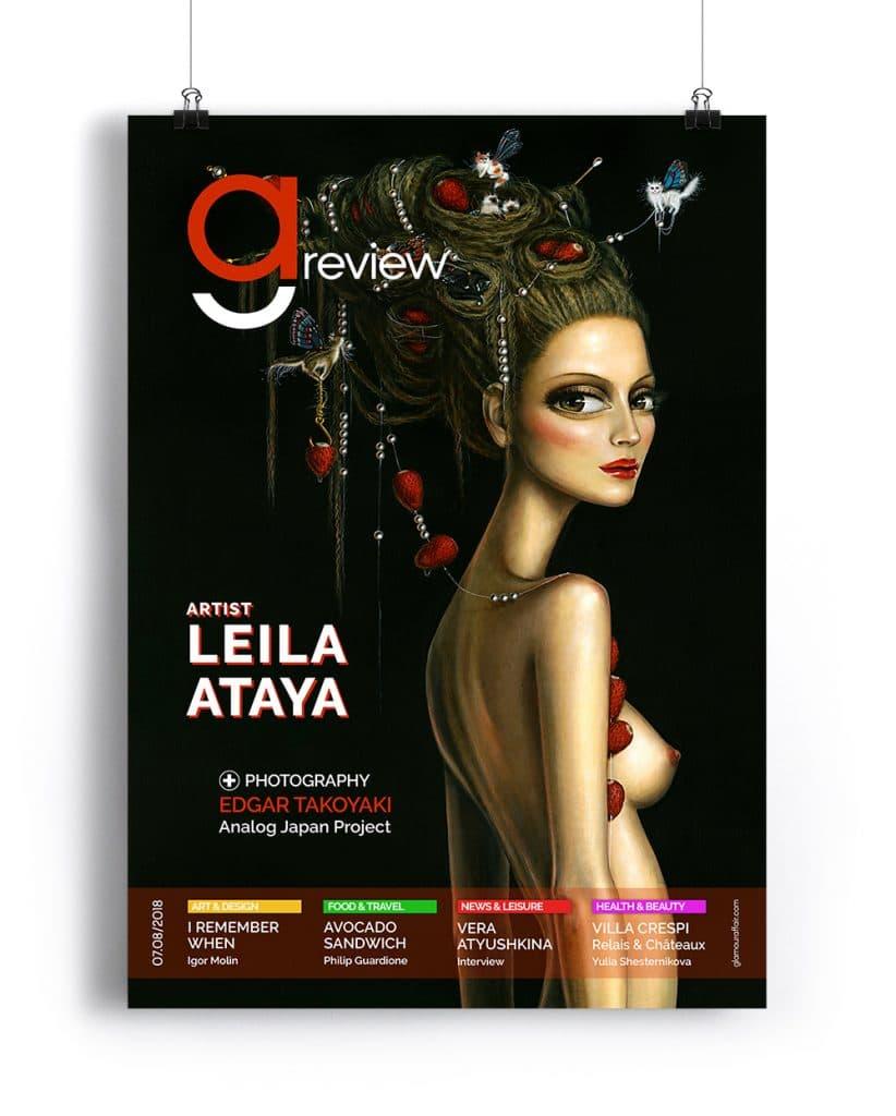 Copertina Luglio-Agosto 2018 di GAreview, Magazine online di glamouraffair.com