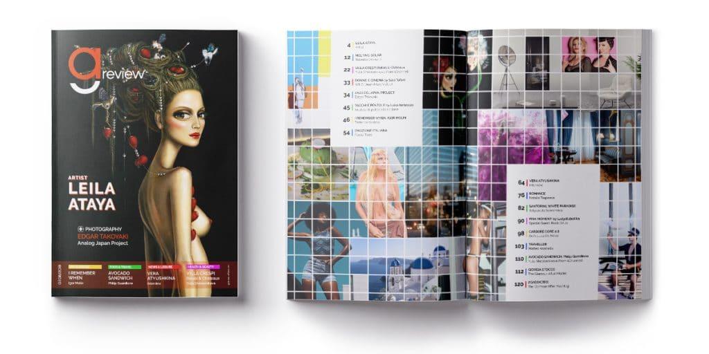 Copertina ed indice Luglio-Agosto 2018 di GAreview, Magazine online di glamouraffair.com