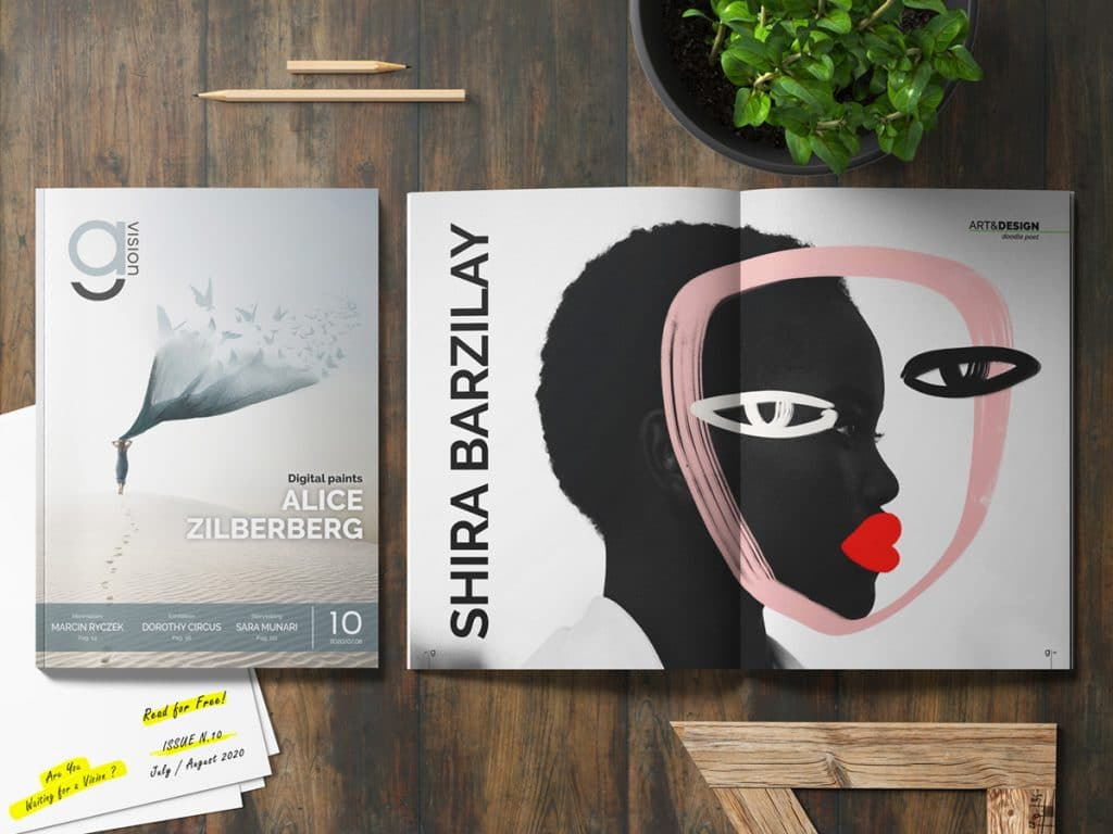 GlamourAffair Vision 10, luglio agosto 2020. Magazine di fotografia, arte e design di Glamouraffair.com
