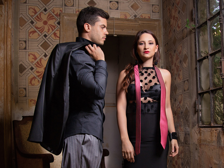 Categorie: Fashion, Glamour, Portrait; Photographer: LUCA BARTOLI (ElleBierre photographer); Models: ANDREA MARCHETTI & BEATRICE ALEBBI; Mua: ANTONELLA IOVINE; Wardrobe: ICANTO; Stylist: EMANUELA IANNICE; Image Consultant: ELEONORA GESSI; Assistant: STEFANO TEBALDI; Location: Albaredo D'adige, VR, Italia