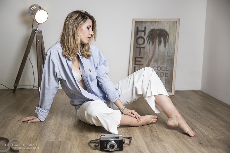 Categorie: Fashion, Glamour, Portrait; Photographer: CHRISTIAN DE SANTI - Model: LAVINIA LA BELLA - Location: Cross7 Studio - Siena, SI, Italia