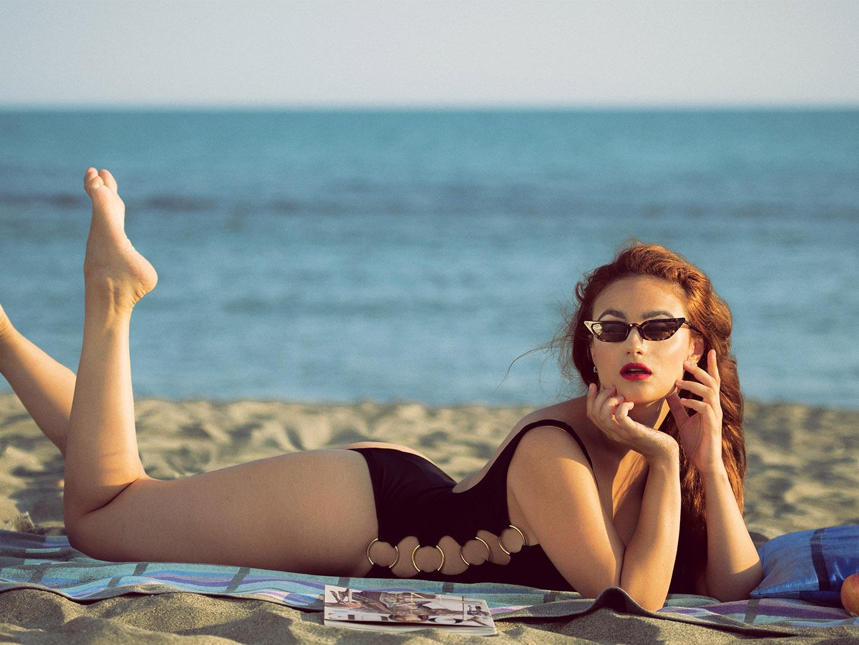 Categorie: Glamour, Portrait - Photographer: GAETANO PASTORE; Model: CORA GASPAROTTI - MUA: JOIA RUSSO - Location: Lido di Ostia, RM, Italia