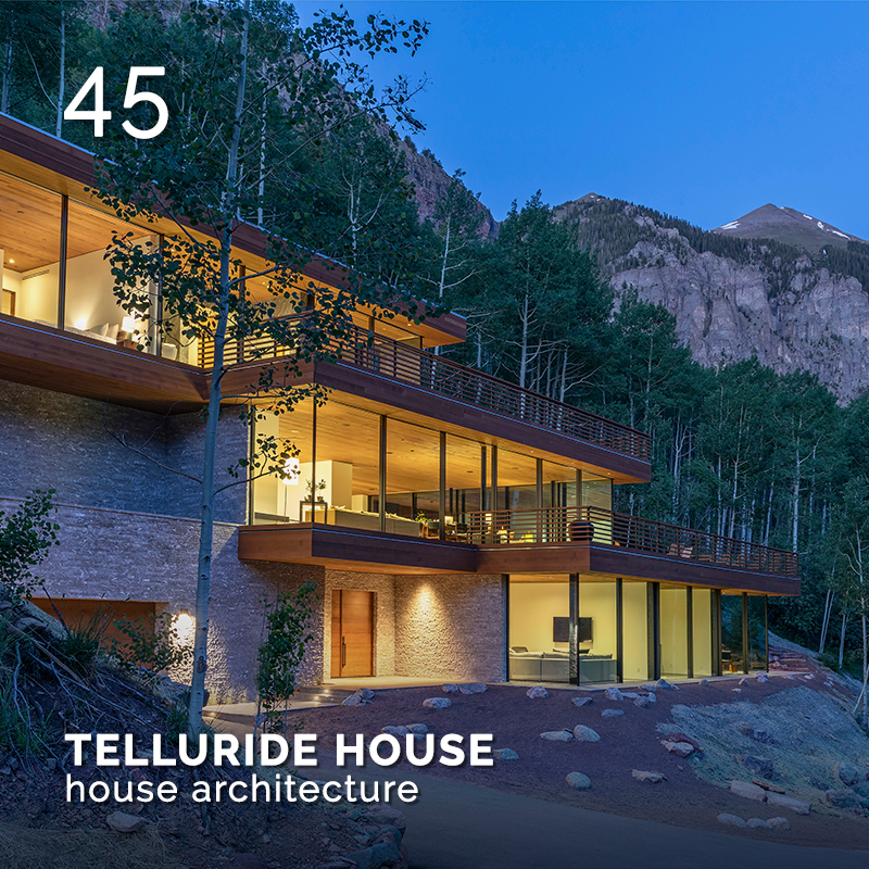 Glamour Affair Vision N. 17 | 2021-09.10 - TELLURIDE HOUSE house architecture - pag. 45