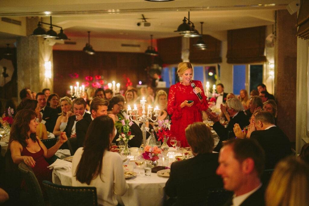 Soho House gesetztes Dinner Hochzeit