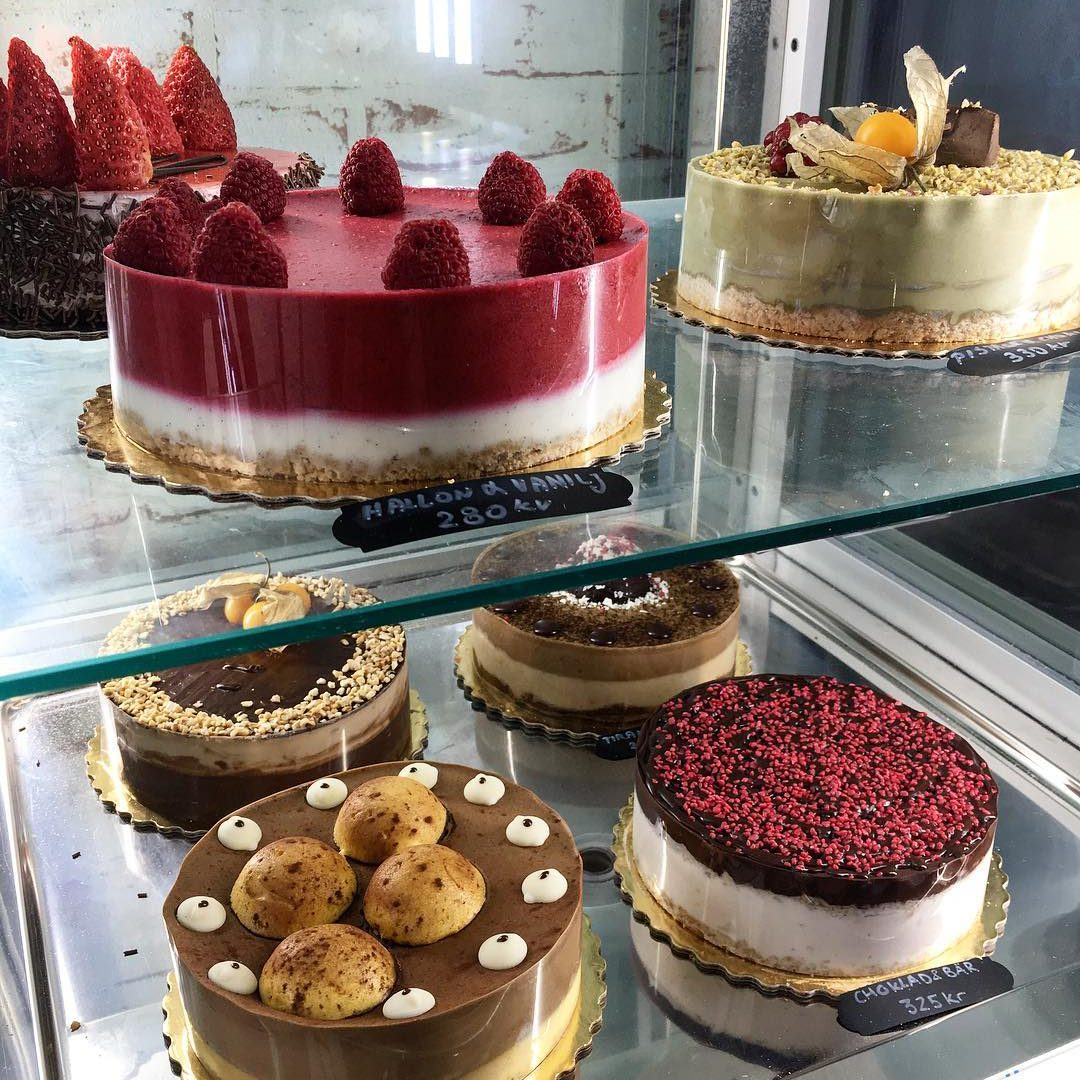 Meny, tårtor