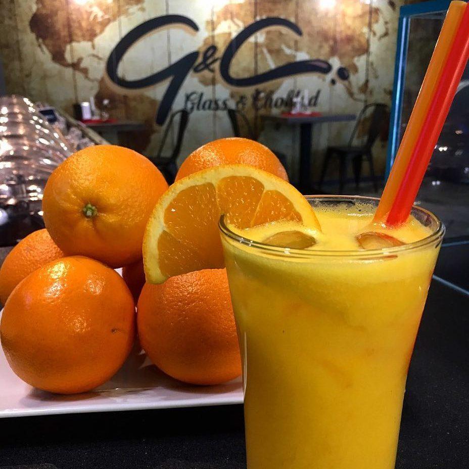 Meny, apelsinjuice