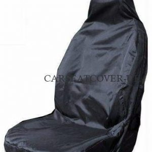 Carseatcover-UK Heavy Duty Black Waterproof Car Seat Cover - Single (Airbag Friendly)