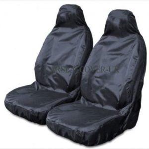 Carseatcover-UK BLKWPSPFP920 Heavy Duty Black Waterproof Car Seat Covers/Protectors - 2 x Fronts