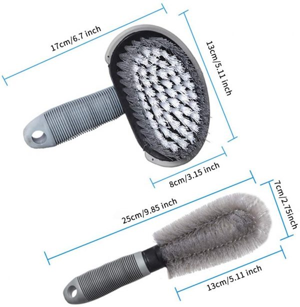 12 Pcs Car Detailing Brushes Set, Car Detail Cleaning Brushes Kit with Wheel Cleaning Brush, Car Washing Towel, Car Washing Mitt, Air Vents Cleaning Brush, Car Ice Shovel, Car Wax Applicator Pads
