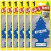 Air Freshener - LITTLE TREES Tree - Black Ice Fragrance MTZ04 - for Car And Home - 6 Pack