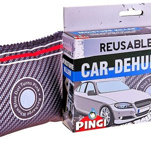 Pingi Dehumidifier Car And Home LV-A300 - Absorbs Moisture Condensation Damp Keeping Windscreens Clear - One Reusable 299 g Bag