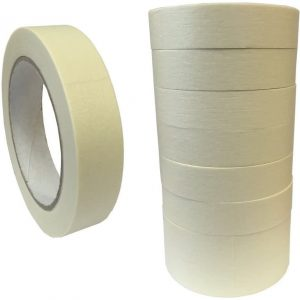 """(Pack of 9) 25mm (1"""") Masking Tape for Auto, Decorating, Painting."""