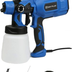 550W HVLP Home Electric Spray Gun with 3 Spray Patterns Universal Paint Sprayer 800ml Detachable Tank Viscosity Measuring Cup Easy to Clean Adjustable Flow Control for Painting Auto Steel Furniture