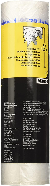 3M Hand-Masker AMF72 Advanced Masking Film for Hand-Masker M3000, pre-folded, transparent, 182 cm x 27,4m