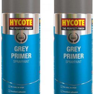 2 x Hycote Grey Primer Car, Van, Bike Spray Paint / Aerosol 400ml - xuk03015