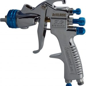 Devilbiss StartingLine SLG-620 Compliant Spray Gun Gravity Feed 1.3mm Solvent Based Paint 550ml Acetal Gravity Cup Included Automotive Paint TopCoat Lacquer Setup