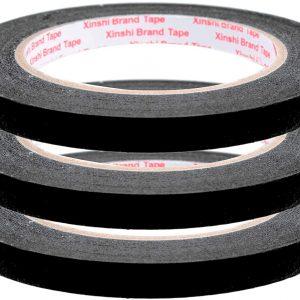 SurePromise 3PCS Adhesive Rolls 10mm Masking Tape Detailing Heat Resistant for Automotive Paint Bodywork Decorating Yellow
