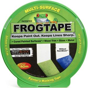 Frog Tape Green Multi Surface Painters Masking Tape, Indoor Painting and Decorating For Sharp Lines and No Paint Bleed 36mm X 41.1m