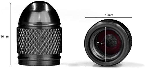 ARH Auto Accessories Bullet Dust Caps, Set Of 4 Fits Onto Car, Bike Or Motorbike Valves. (Blue)