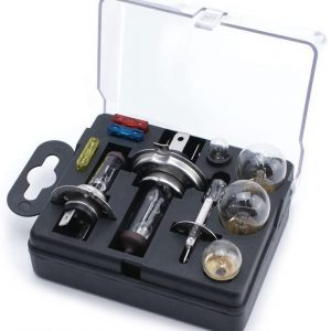 XtremeAuto® UNIVERSAL CAR SPARE BULB & FUSE KIT INCLUDING H1 H4 H7 BULBS & FUSES + Sticker