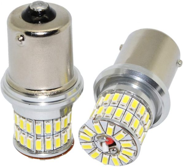 ARH Auto Accessories P21W Cold White 50 SMD COB Reverse Light Bulbs - Twin Bulb Pack – Straight Replacement For Any P21W / Reverse Bulbs - FREE 12 Month Warranty