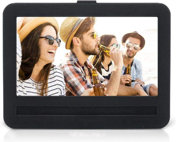 APEMAN 10-10.5 inch Car Headrest Mount Holder Strap Case for Swivel & Flip Style Portable DVD Player