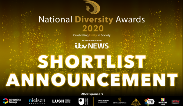 The National Diversity Awards Announce 2020 Shortlist