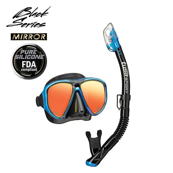 Tusa Powerview Adult Dry Combo (Mirror Lens)