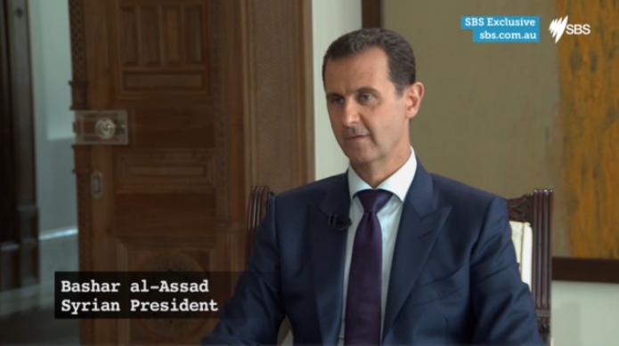 Intervju med Syriens president Assad om al-Baghdadis död.