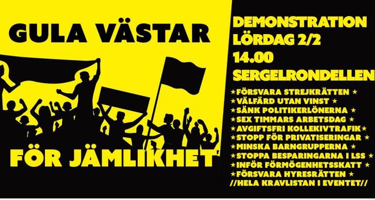 Gula västarna Stockholm lördag kl 14