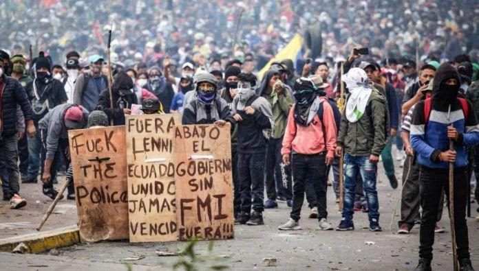 Sydamerika drabbat av USA-kontrollerade Internationella Valutafondens politik. Stora protester. Exemplet Ecuador.