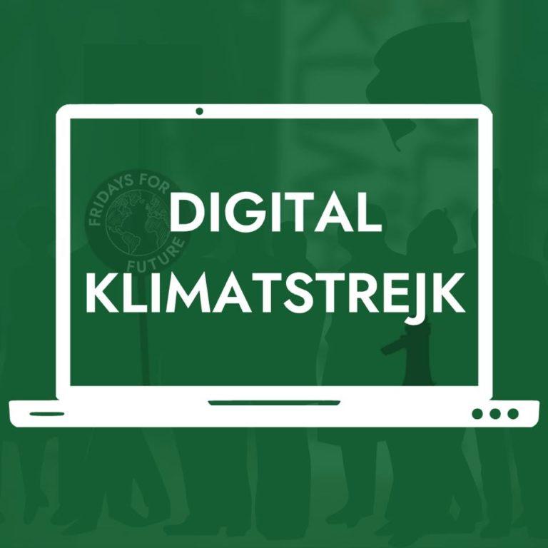 Globala klimatstrejken idag – Global Strike 24 april – blir virtuell! Kom med!