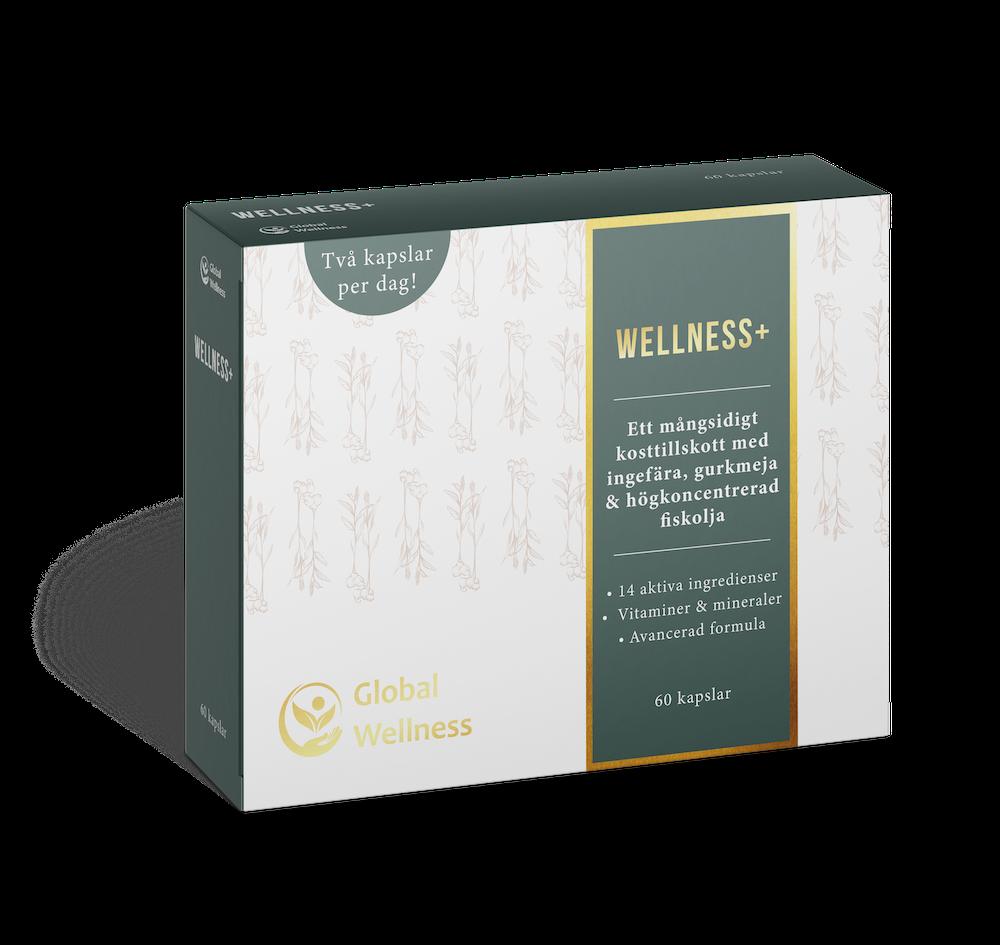 kosttillskott med gurkmeja & fiskolja wellness+