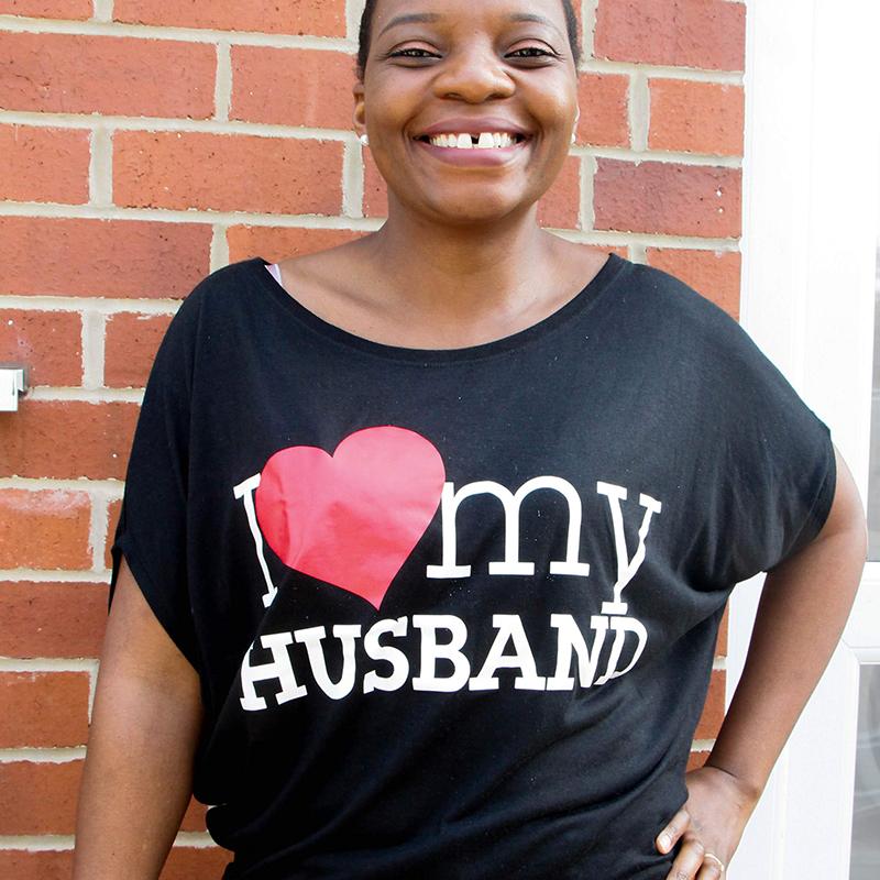 Go Tell Ltd   I Love My Husband   Flowy Circle Top   Black