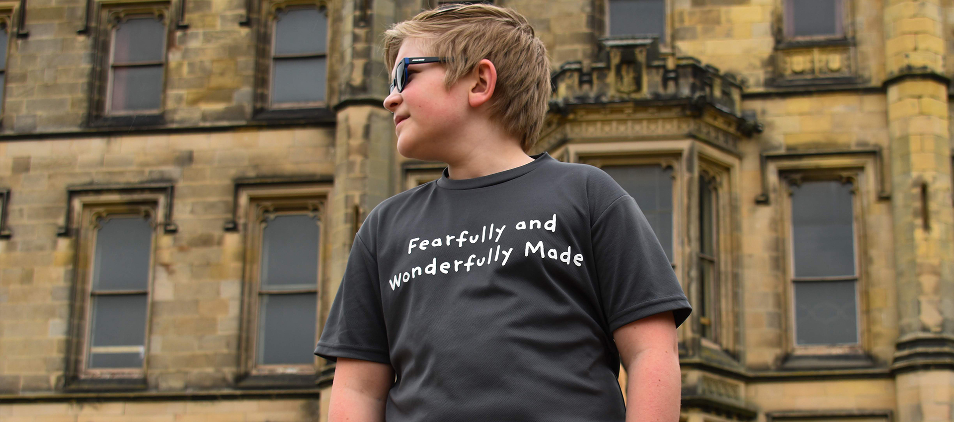 Go Tell Ltd | Fearfully Child | Kids Cool T-Shirt | Charcoal