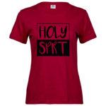 Holy Spirit   Ladies Sof T-Shirt   Deep Red   Black print