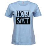 Holy Spirit   Ladies Sof T-Shirt   Light Blue   Black print