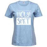 Holy Spirit   Ladies Sof T-Shirt   Light Blue   White print