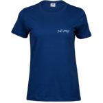 Just Pray   Ladies Sof T-Shirt   Indigo   White print   Small